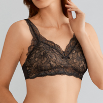 Underwire free lacy bralette . Soft and Sexy